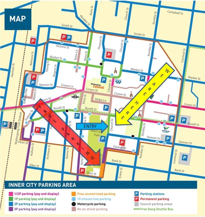 Wollongong Centre Map KIS Accounting